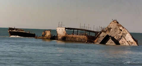 The SS Palo Alto, a cement or concrete ship, is located at the end of the ... Rio Del Mar Beach is the main beach in the community of Rio Del Mar in Aptos, CA.